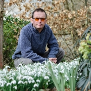Matt Bishop with Galanthus Straffan