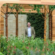Joe Swift in his Gold Medal Chelsea Garden